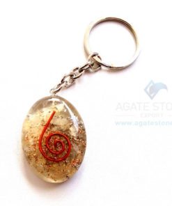 Orgonite Moonstone Oval Keychains