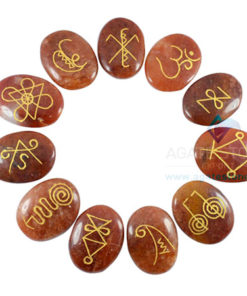 Red Aventurine Oval Karuna Reiki Set