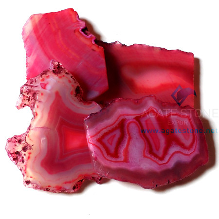 Red Onyx Agate Natural Slices
