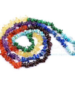 Seven Chakra Uncut Beaded Necklace