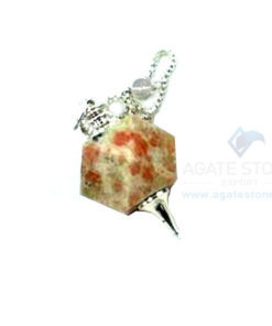 Sunstone Octagonal Faceted Pendulum