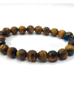 Tiger Eye Faceted Beaded Bracelet