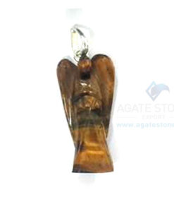 Tiger Eye Spiritual Angel Pendant