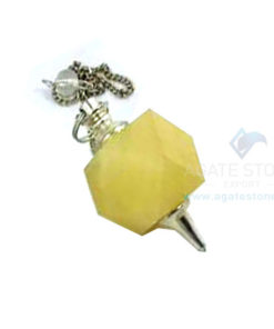 Yellow Aventurine Octagonal Faceted Pendulum