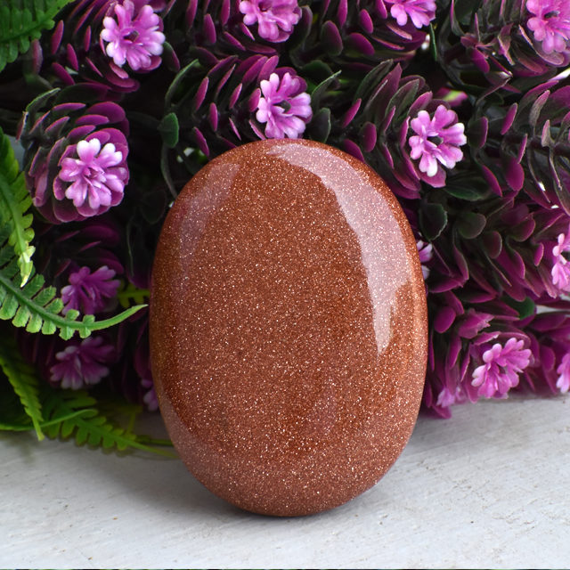 Red Sunstone Palm Stone 6