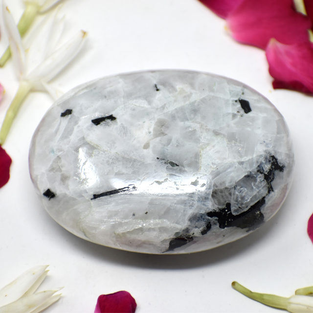 Rainbow Moonstone Palm Stone 6
