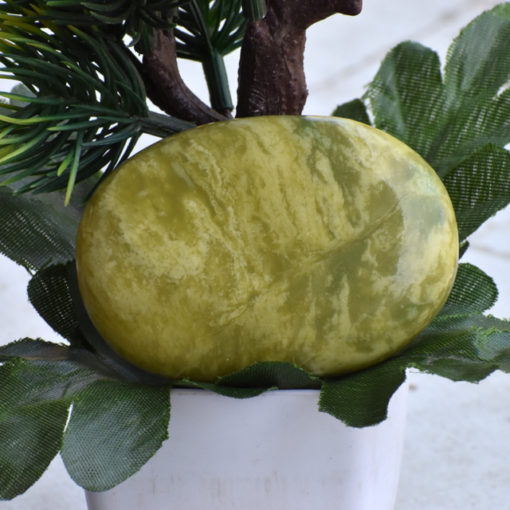 Serpentine Palm Stone